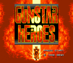 Gunstar Heroes title screenshot
