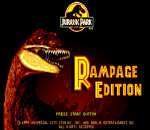 Jurassic Park - Rampage Edition title screenshot