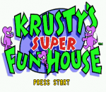 Krusty's Super Fun House title screenshot