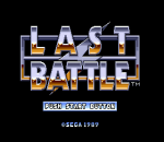Last Battle title screenshot