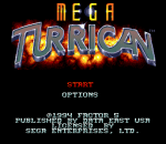 Mega Turrican title screenshot
