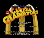 Mick & Mack as the Global Gladiators title screenshot