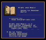 Might and Magic - Gates to Another World title screenshot