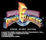 Mighty Morphin Power Rangers title screenshot