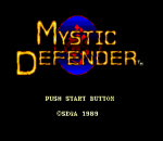 Mystic Defender title screenshot