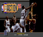 NBA Action '95 Starring David Robinson title screenshot