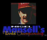 Nigel Mansell's World Championship Racing title screenshot