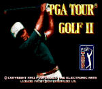 PGA Tour Golf II title screenshot