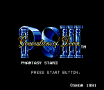 Phantasy Star III - Generations of Doom title screenshot
