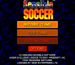 Sensible Soccer title screenshot