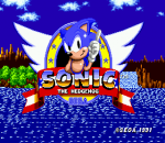 Sonic The Hedgehog title screenshot
