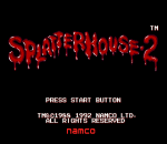Splatterhouse 2 title screenshot