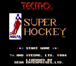 Tecmo Super Hockey title screenshot