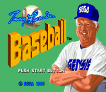 Tommy Lasorda Baseball title screenshot