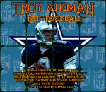 Troy Aikman NFL Football title screenshot