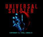 Universal Soldier title screenshot