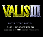 Valis III title screenshot