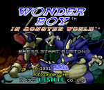 Wonder Boy in Monster World title screenshot