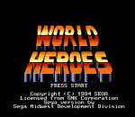 World Heroes title screenshot