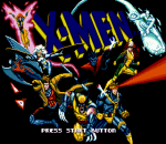 X-Men title screenshot