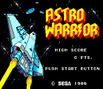 Astro Warrior title screenshot