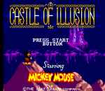 Castle of Illusion Starring Mickey Mouse title screenshot