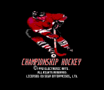 Championship Hockey title screenshot