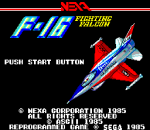F-16 Fighting Falcon title screenshot