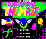 Fantasy Zone - The Maze title screenshot