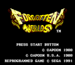 Forgotten Worlds title screenshot