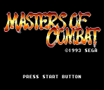 Masters of Combat title screenshot