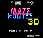 Maze Hunter 3-D title screenshot