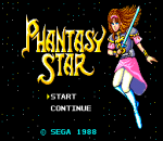 Phantasy Star title screenshot