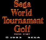 Sega World Tournament Golf title screenshot
