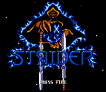 Strider II title screenshot
