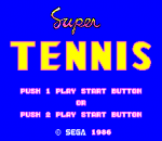 Super Tennis title screenshot