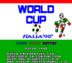 World Cup Italia '90 title screenshot