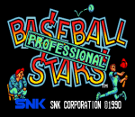 Baseball Stars Professional title screenshot