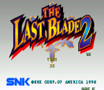 Last Blade 2, The title screenshot