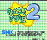 Puzzle Bobble 2 : Bust-A-Move Again title screenshot