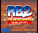 Real Bout Fatal Fury 2 : The Newcomers title screenshot