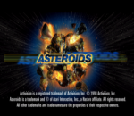 Asteroids title screenshot