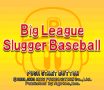 Big League Slugger Baseball title screenshot