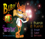 Bubsy 3D - Furbitten Planet title screenshot