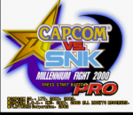 Capcom vs. SNK Pro - Millenium Fight 2000 title screenshot