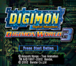 Digimon World 3 title screenshot