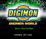Digimon World title screenshot