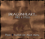 DragonHeart - Fire & Steel title screenshot