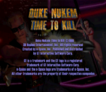Duke Nukem - Time to Kill title screenshot