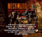 MechWarrior 2 - 31st Century Combat title screenshot